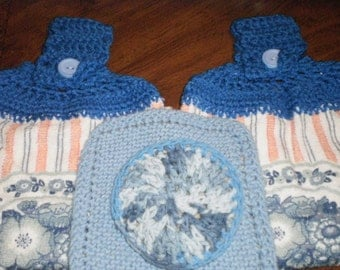 Gift set with two towels, dishcloth, and scrubby