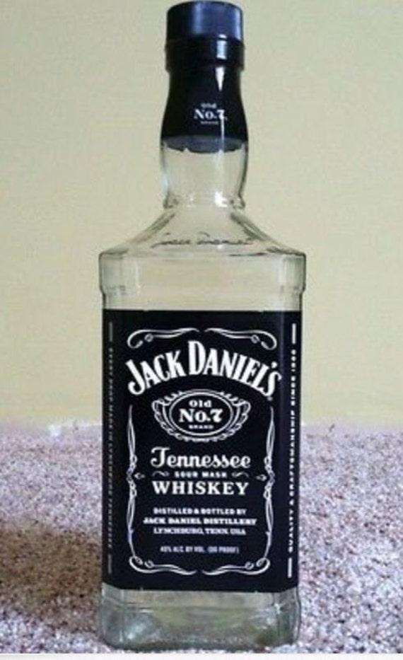 Empty Liquor Bottle Jack Daniels Whiskey 750 ml