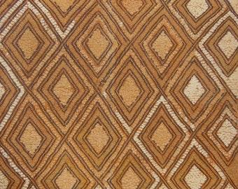 African Tribal Kuba Cloth Cut Pile And Raffia Prestige Cloth Textile Currency DRC Zaire N25