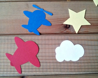 Airplane Confetti - airplane party - time flies party - die cuts - party supplies - table decorations