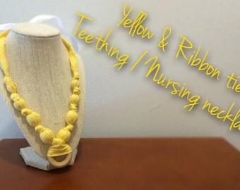 Yellow Nursing Teething Necklace