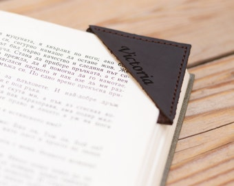Personalized leather bookmark Handmade leather bookmark