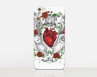 Burning Heart Phone Case For- iPhone 8, 8 Plus, X, iPhone 7 Plus, 7, SE, 5, 6S Plus, 6S, 6 Plus, Samsung S8, S8 Plus, S7, S7 Edge