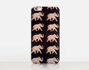 Indian Elephant Phone Case For- iPhone 8, 8 Plus, X, iPhone 7 Plus, 7, SE, 5, 6S Plus, 6S, 6 Plus, Samsung S8, S8 Plus, S7, S7 Edge