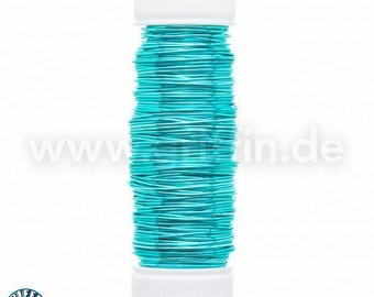 Fancy wire 0, 5mm, petrol, 25m, modeling wire, Griffin, wire, wire craft, blue, green