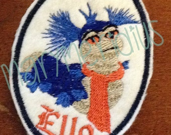 Labyrinth Movie~Ello~friendly Worm~80s awesomeness~David Bowie Movie~muppet~MaryMeridius Original~Embroidered felt patch~sew on~iron on~cute