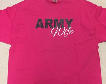 Army, Navy, Air Force, Marines, Military wife shirt unisex fit