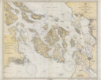 San Juan Islands Map - 1933