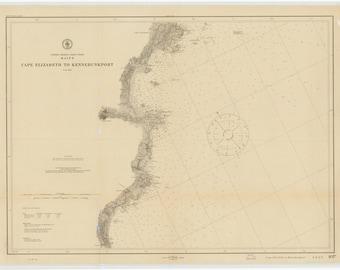 Cape Elizabeth to Kennebunkport Map 1912