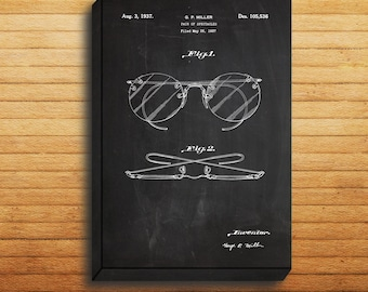 CANVAS - Eyeglasses Patent, Eyeglasses Poster, Eyeglasses Print, Eyeglasses Art, Eyeglasses Decor, Eyeglasses Blueprint