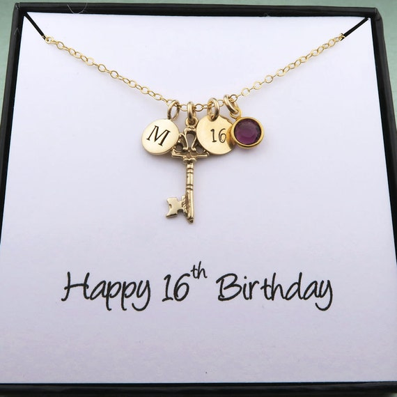 Personalized 16th Birthday Necklace Birthday By