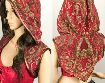 Tapestry Steampunk Hoodie Shrug -Small