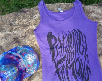"Glow in the Dark Shirt, Purple, Ladies ""Afterparty"" Tank Top"