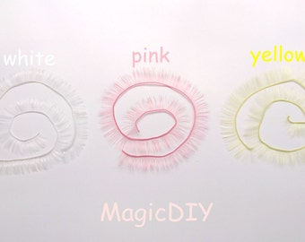 190mm*8mm eyelashes for BJD dolls White/Pink/Yellow