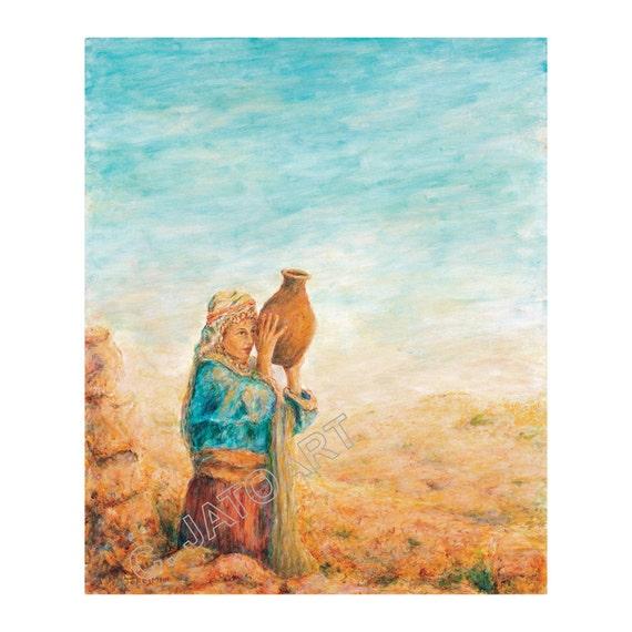Jew Detector: Rebecca Rivka Bible Woman Of Valor Carrying By JaTOArtGallery