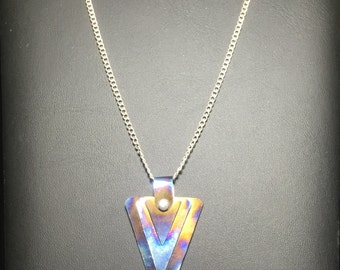 Titanium Burned Semicircular Necklace