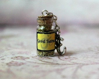 Good Karma Mystical Glass Vial Key Chain or Necklace