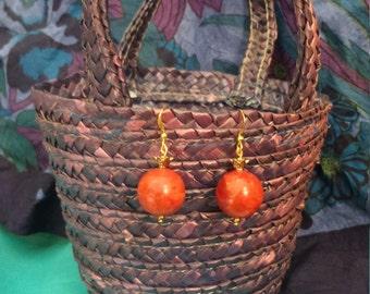 Persephone's Pomegranate Earrings