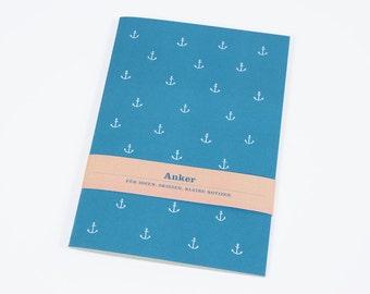 Notebook» anchor «- blue».