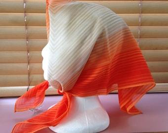 Vintage Jaleh & Joseph orange chiffon scarf