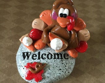 Polymer Clay Thanksgiving Turkey Welcome