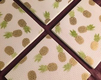 Pineapple Glam Coasters - 4