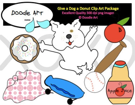 if you give a dog a donut clipart pack. Black Bedroom Furniture Sets. Home Design Ideas