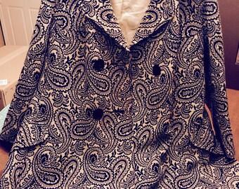 Women's O-Kay fashions by Herman Kay Paisley Print Coat