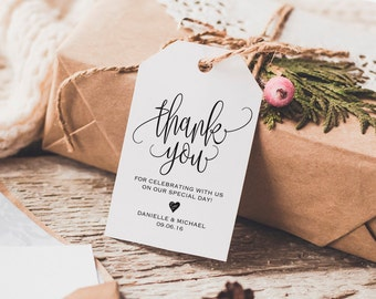 Thank You Tag, Wedding Thank You Tags, Gift Tags, Wedding Favor, Thank You Printable, Wedding Printable, PDF Instant Download #BPB203_32