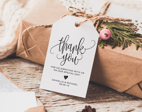 Wedding Gift Thank You Note: Thank You Tag Wedding Thank You Tags Gift Tags Wedding