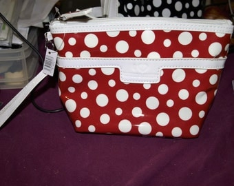 Red and White Dotty Wash Bag
