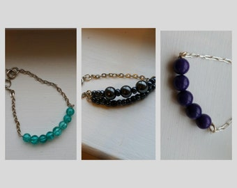 Bead and Chain Bracelets