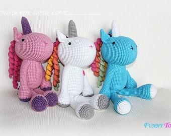 Rainbow the unicorn crochet Crochet toys Amigurumi Stuffed toys Kids Toy Plush Doll Small Toy Stuffed Toys