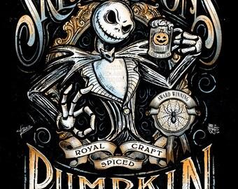 Jack Skellington's Pumpkin Ale Inspired Halloween Design | KoLabs | Premium Quality Giclee Archival Print