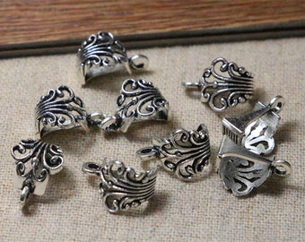 30pcs antique silver bails,jewelry making supplies,7*12*17mm