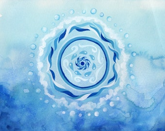 Separation of the Waters, Day 2 Creation Painting - Original or Print