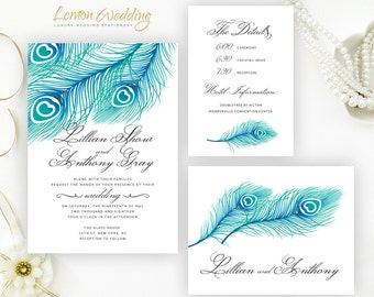 Cheap Cardstock For Wedding Invitations : ... cardstock feather wedding sets discount wedding invitation cards 2 30