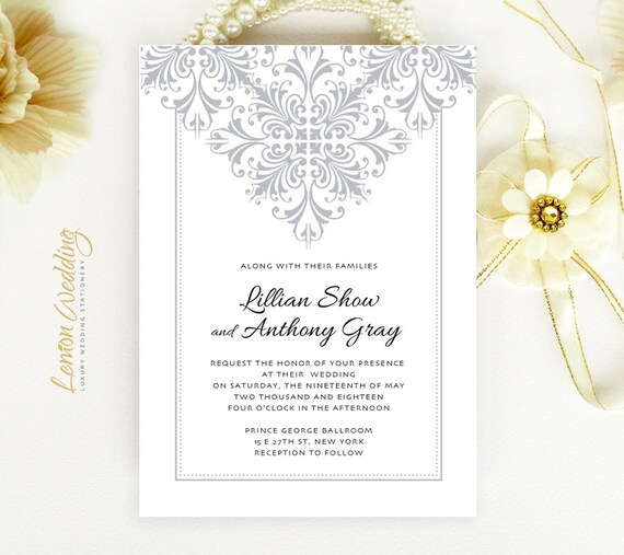 Cheap Cardstock For Wedding Invitations : ... cardstock Silver wedding invites Elegant wedding invitations cheap