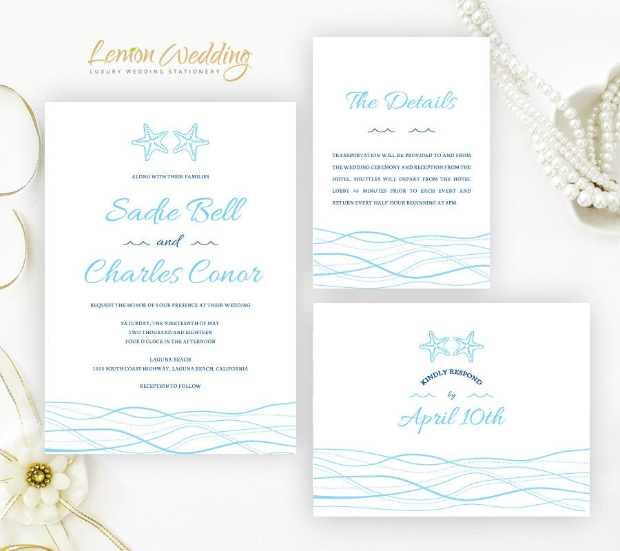 Cruise Ship Wedding Invitations Printed On Shimmer Paper