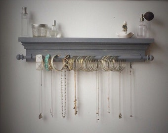 Jewelry Organizer - Hanging Jewelry Shelf - Hanging Jewelry Storage