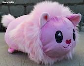 MEDIUM/LARGE Lion Roll Plush // Steven Universe Fanart Loaf Plush//Pink Kitty Cat Plushie // Handmade Stuffed Animal Toy // Made to Order
