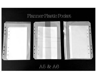 Personal Planner Plastic Pockets Refill | Card Holder, Ziplock Envelope, Receipt Holder | Filofax Compatible