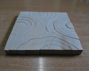 Wooden Puzzle Wave, Waldorf toy, Puzzle wave, Eco Puzzle, Wood blocks, Wooden puzzle, Organic puzzle, Waldorf puzzle, Baby Kids Toy
