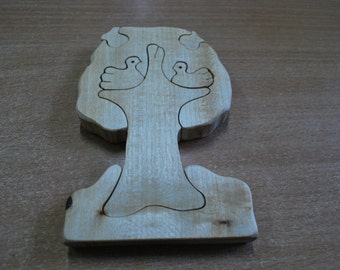 Tree, Puzzle tree, Puzzle, Wooden puzzle, Wooden Puzzle Tree, Handmade toy, Ecofriendly toys, Tree with apples and birds