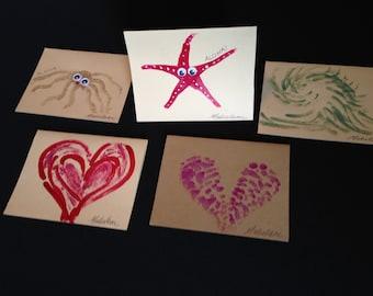 Nail polish cards