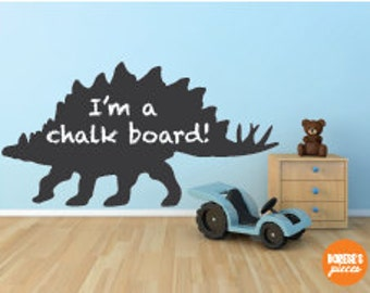 Custom Removable Chalkboard decal - Dinosaur style!