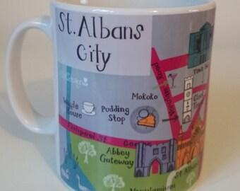 St Albans Map Mug