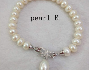 freshwater Pearl bracelet Bridesmaid bracelet wedding bracelet wedding gift bridesmaid gift bridal jewelry ivory pearl white pearl