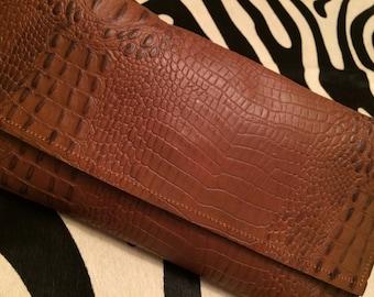 Genuine Alligator Clutch
