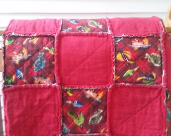 Fishing Rag Quilt, Fishing bedding